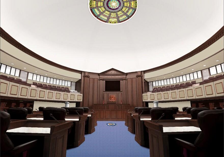 Senate chambers mockup