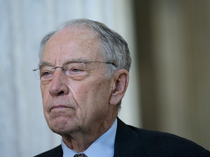 Republican Sen. Chuck Grassley has tested positive for the coronavirus.