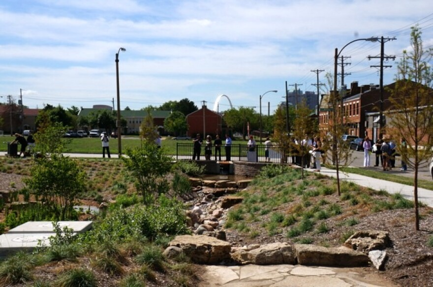 The MSD's Old North rain garden project.