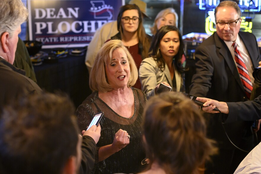 U.S. Rep. Ann Wagner, R-Ballwin, speaks to supporters and media on Tuesday night. She defeated Democratic challenger Cort VanOstran in Missouri's 2nd Congressional District.