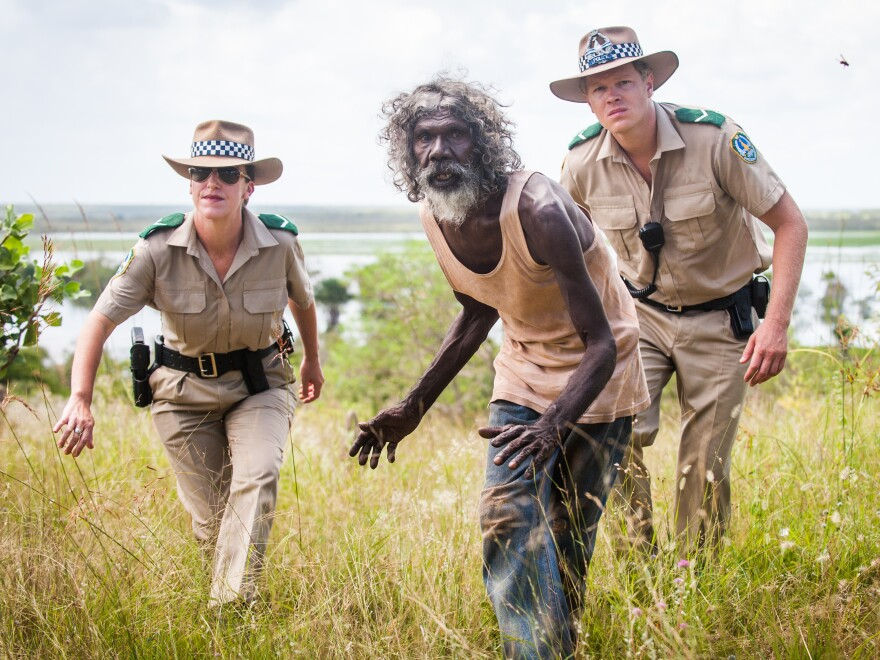 Charlie (David Gulpilil) can be stubborn or heroic, depending on who's doing the looking.