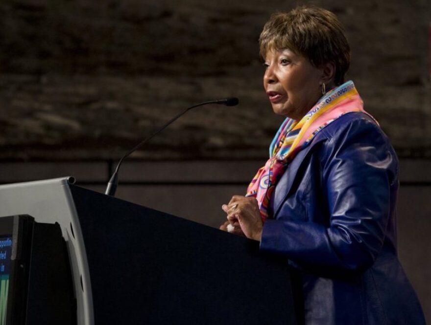 Eddie Bernice Johnson speaking in 2012.
