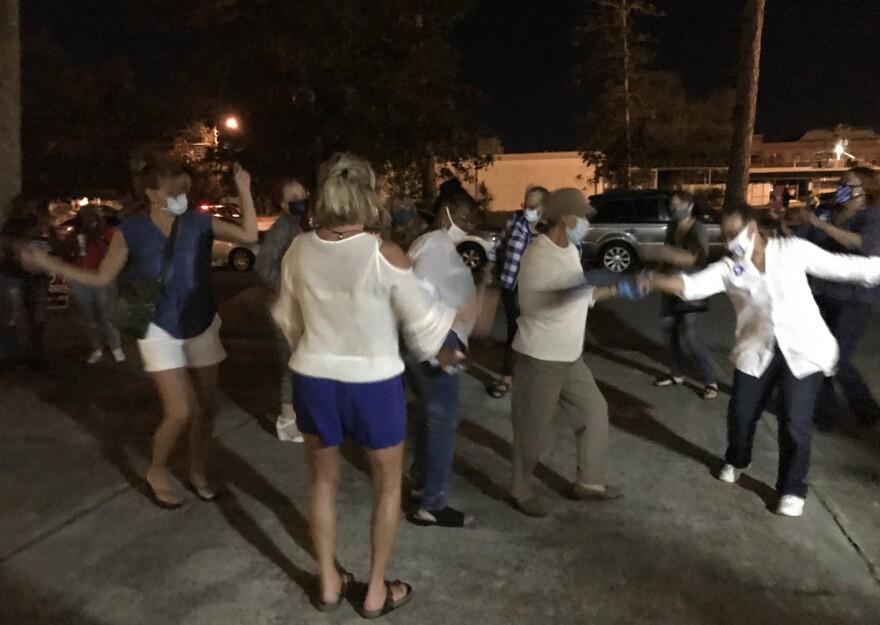 PanamaCity Voters Dance At Polls Biden Victory.jpg