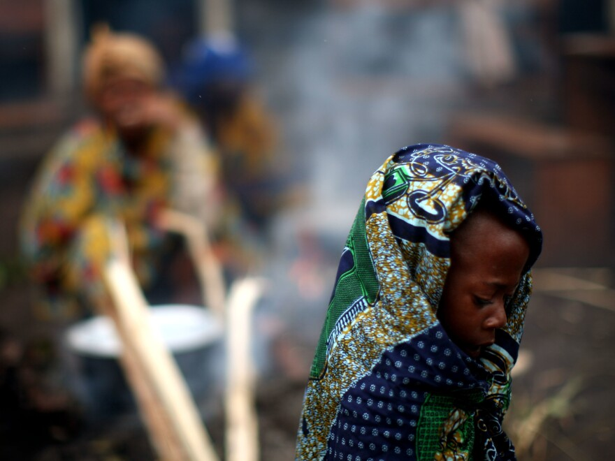 A girl in a refugee camp in the Democratic Republic of Congo.