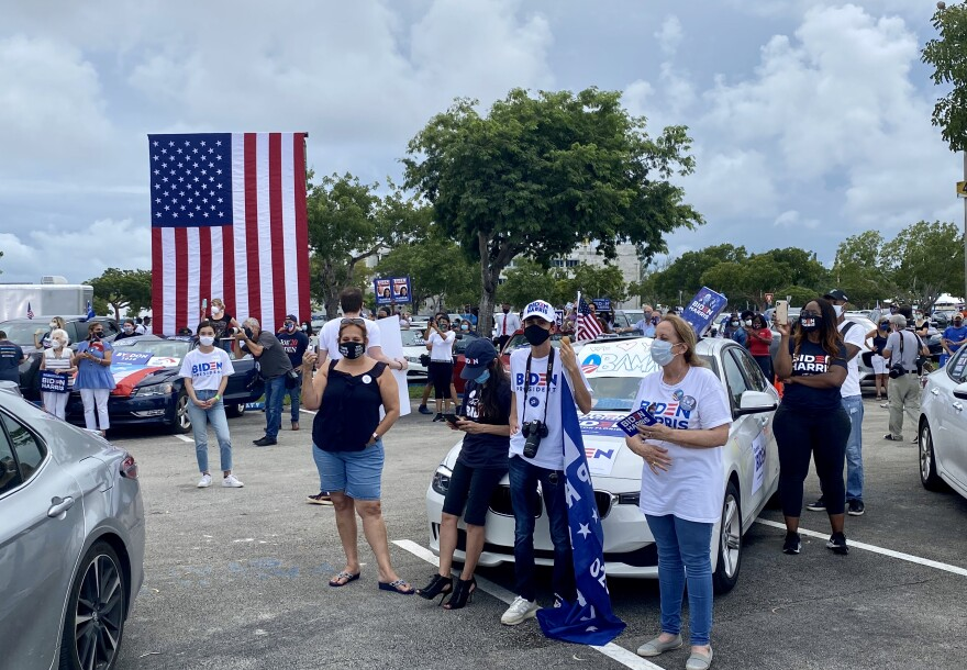 Crowd At Biden Drive-In Rally