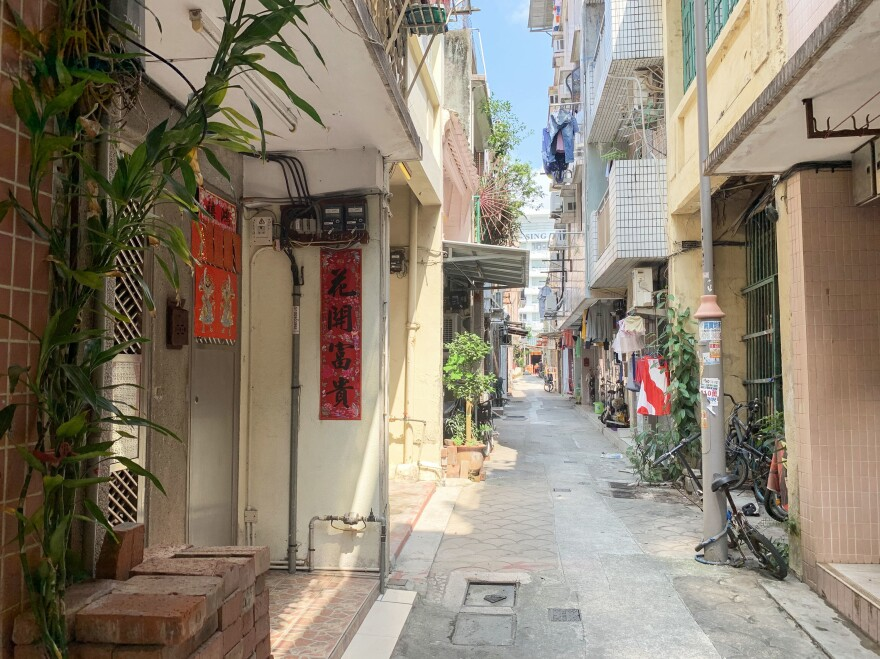 "Nam Pin Wai, a so-called ""indigenous village"" — where residents' ancestors predated British colonial rule of Hong Kong — is steps away from the Yuen Long metro station. Nam Pin Wai is where assailants retreated after beating anti-government protesters in the station on July 21."