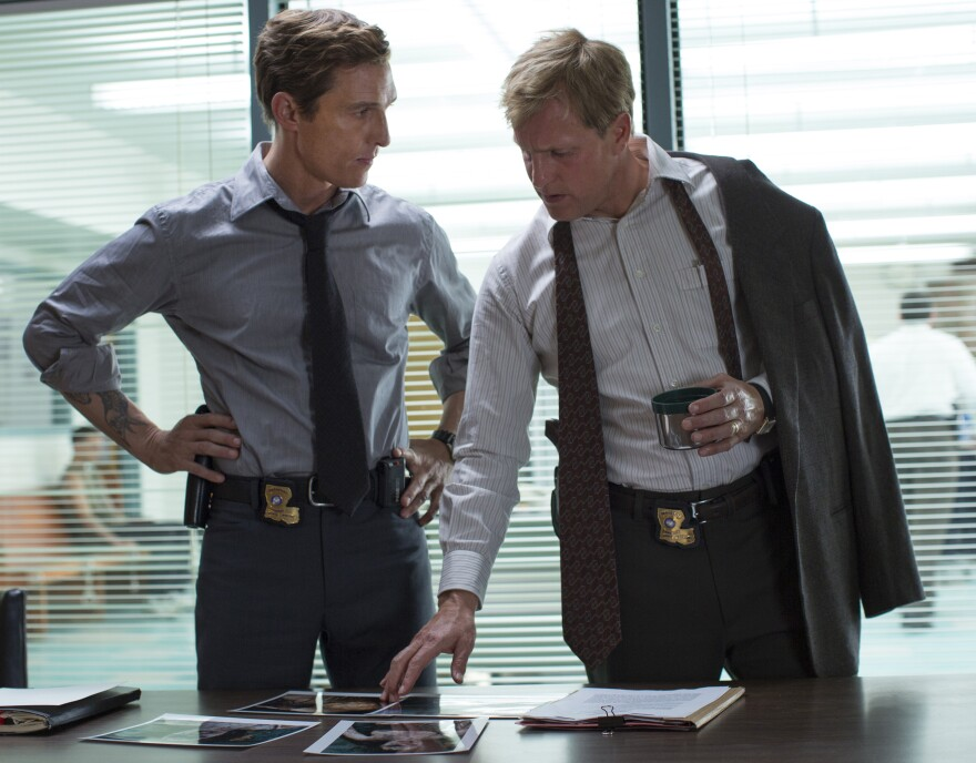 Matthew McConaughey and Woody Harrelson star in HBO's <em>True Detective</em>.