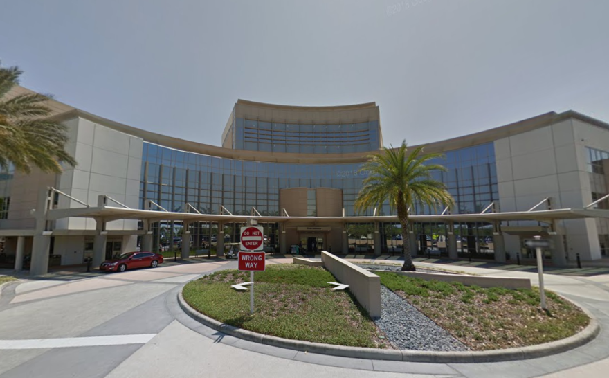 A google earth eyeview photo of the front of the hospital.