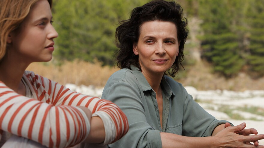 Lou de Laage and Juliette Binoche in <em>L'Attesa (The Wait)</em>.