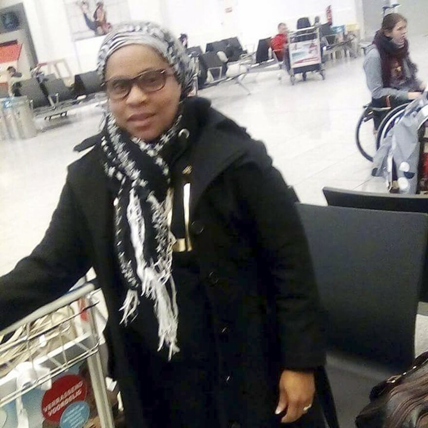 Elita Borbor Weah was on her way to her stepfather's funeral when she texted her family this photo of herself on March 22. It shows her in the Brussels airport, just before she died in the attack.