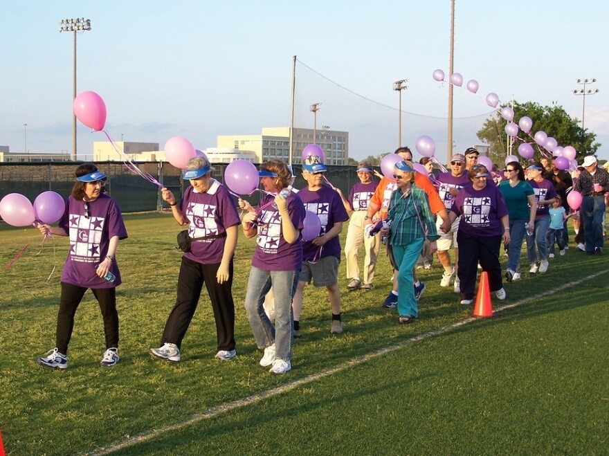 """An American Cancer Society Relay for Life event at the University of Texas-Dallas in 2006. The events are meant to """"celebrate the lives of people who have battled cancer, remember loved ones lost, and fight back against the disease,"""" according to the organization."""
