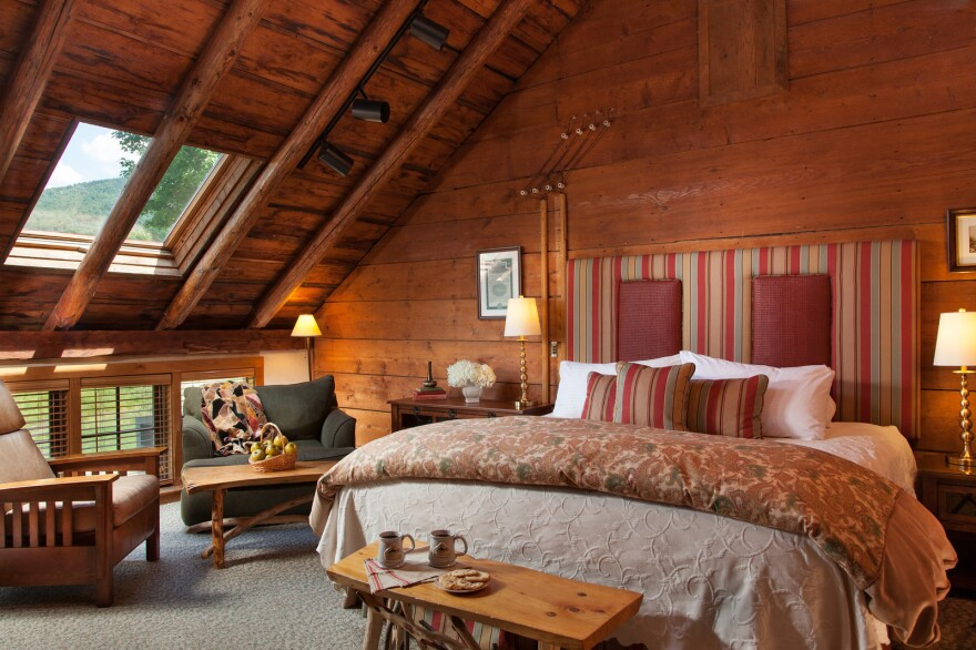 Innkeepers are combating old stereotypes about bed and breakfasts. The Richardson Room at the Round Barn Farm in Waitsfield, Vt., was renovated this year to reflect more more modern tastes.