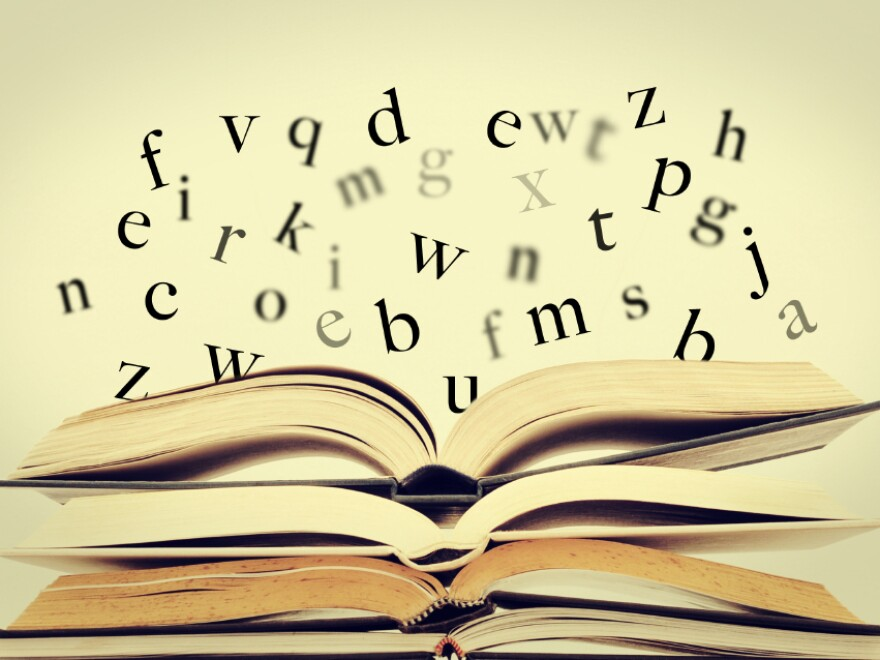"According to iStockphoto, these floating letters ""symbolize the idea of literature."" Sure. We'll just roll with that."