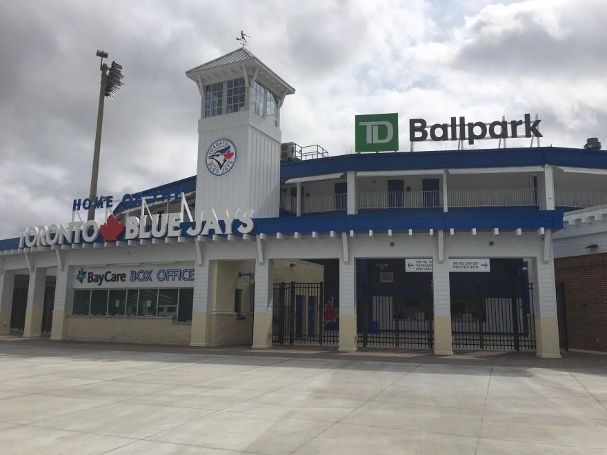 Exterior of TD Ballpark in Dunedin