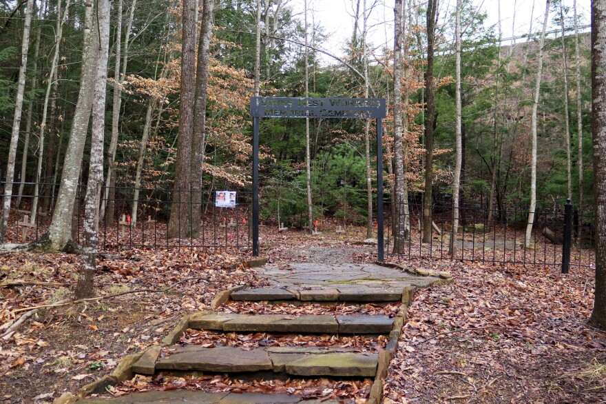 Whippoorwill Cemetery in Summersville, W.Va., serves as the final resting place for many of the men who died after working on the Hawks Nest Tunnel.