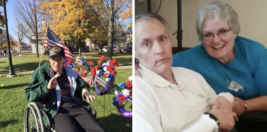 Matt Snider was in a Michigan nursing home for years with Huntington's disease. His wife, Nancy, her daughter or a close family friend saw him every day.