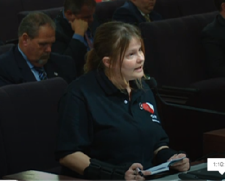 Gabrielle Monroe gives testimony as to why she is against Senate Bill 540.