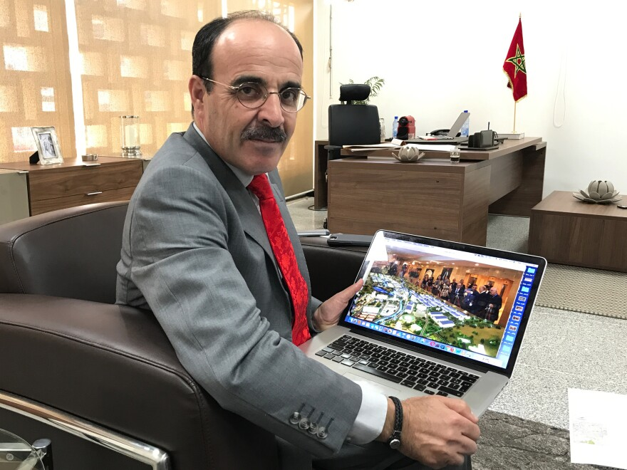 Ilyas El-Omari, the Tangier region president, says there was a disagreement between Morocco and the Chinese company Haite Group over who would own the city.