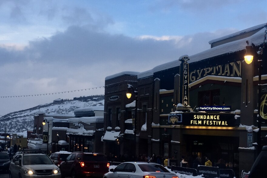 Sundance marquee at Egyptian Theatre.