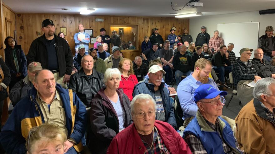Residents of Paradise gathered recently at a town hall meeting to learn that they would not be allowed to camp out or park RVs on their properties until clean up was complete.