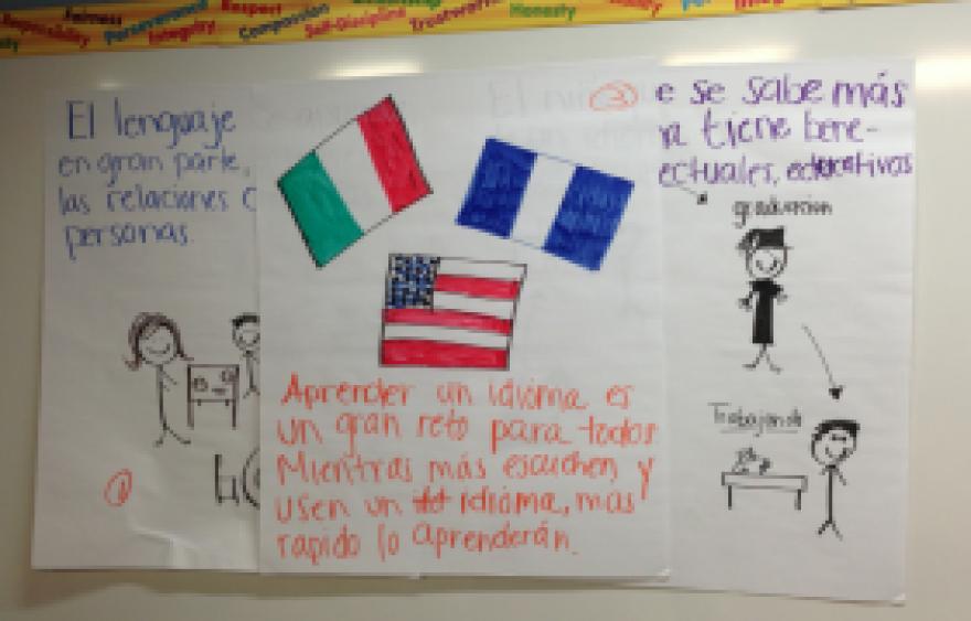 Immokalee Community School offers classes to help parents encourage bilingual children.