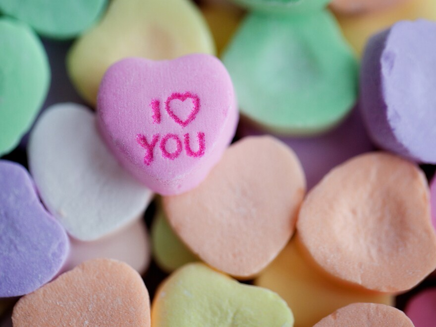 """If """"I Love You"""" candy hearts aren't imaginative enough, you can always consider """"Stank Love"""" or """"Sweat Poo."""""""