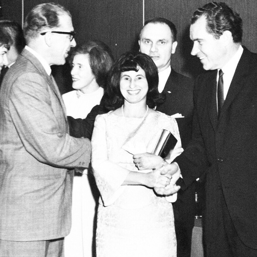 Chelsea Kiene writes: <em>Dug this out of the Kiene archives. Grandpa and Grandma Kiene with President Nixon. Grandma is undeniably fan-girling in this shot.</em>
