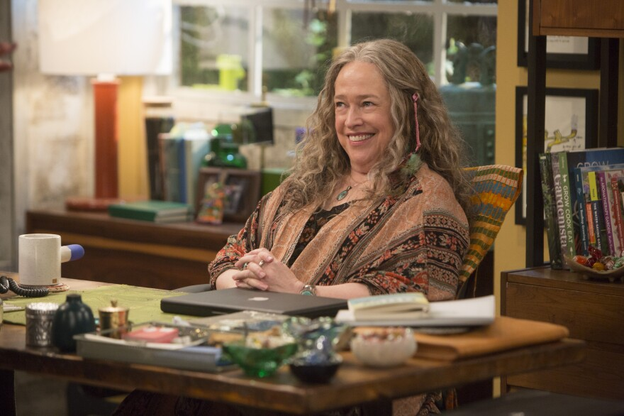 <em>Disjointed</em> hired a cannabis consultant to make sure the actors pretending to smoke on the show were doing so believably. Kathy Bates, above, says she didn't need coaching.