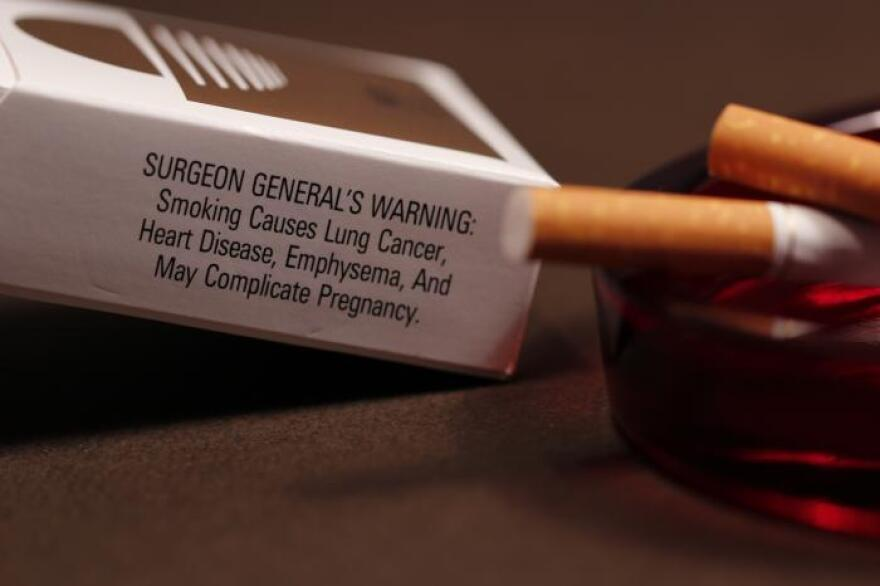 Warning label on cigarettes