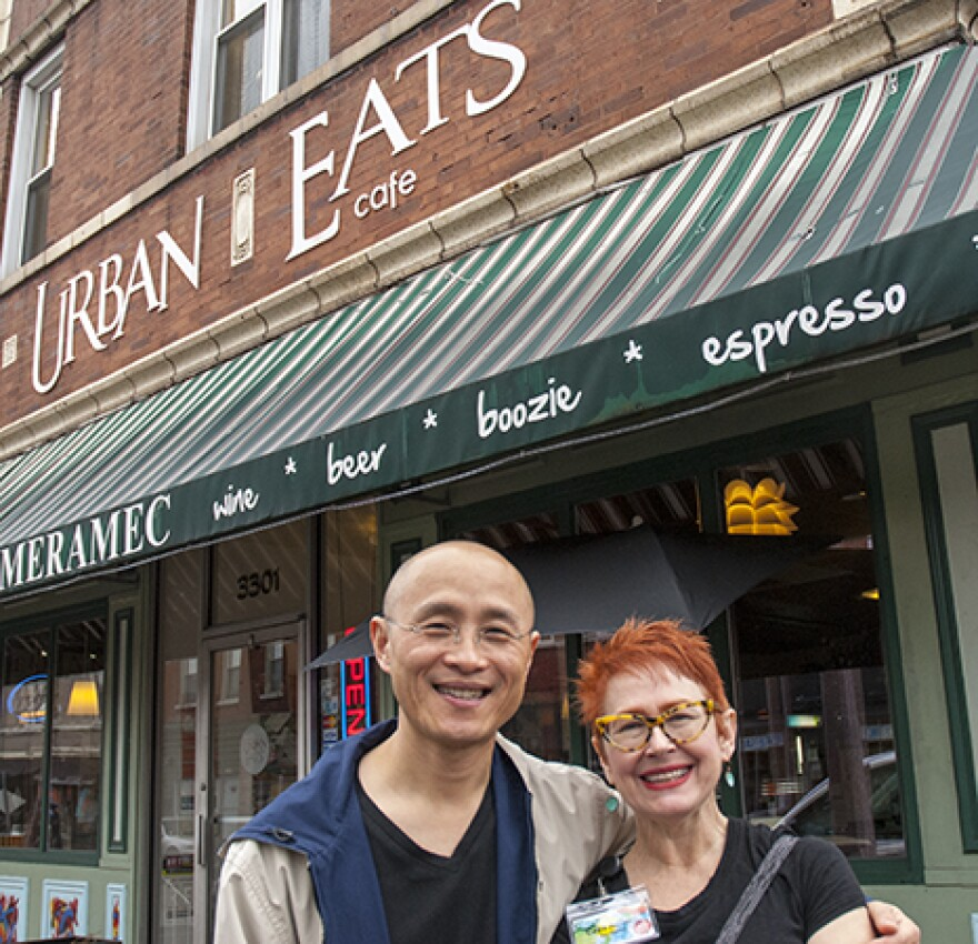 John Chen and Caya Aufiero, co-owners of Urban Eats Cafe in the Dutchtown neighborhood.