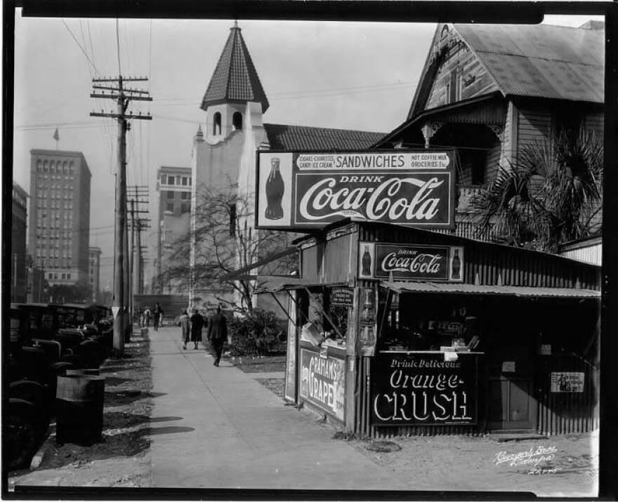 A Coca-Cola stand.