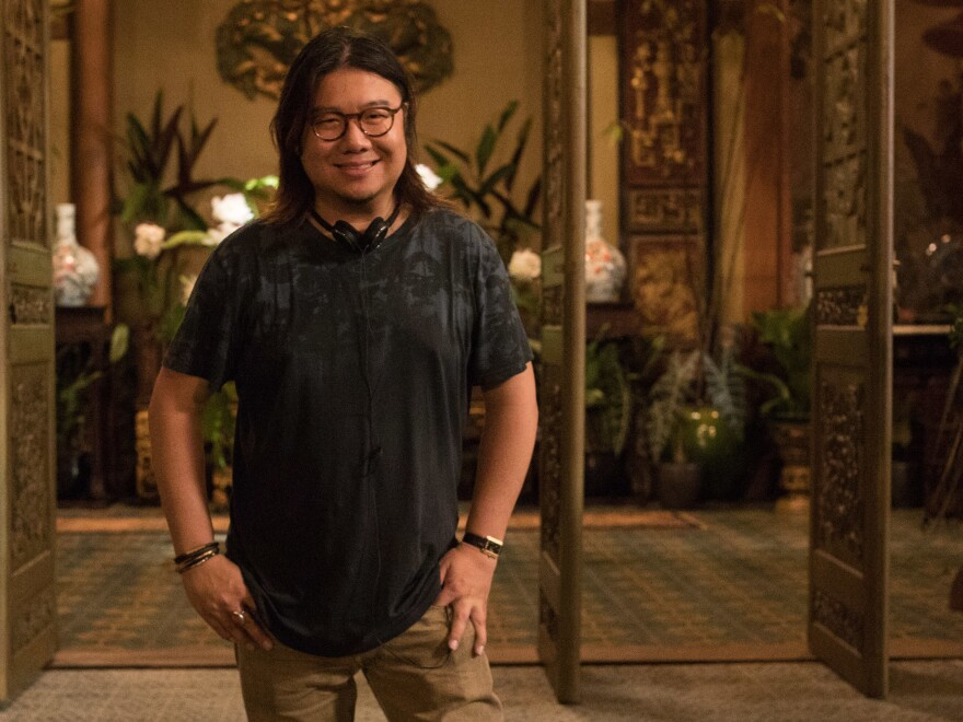 Executive producer and author Kevin Kwan on the set of Crazy Rich Asians.