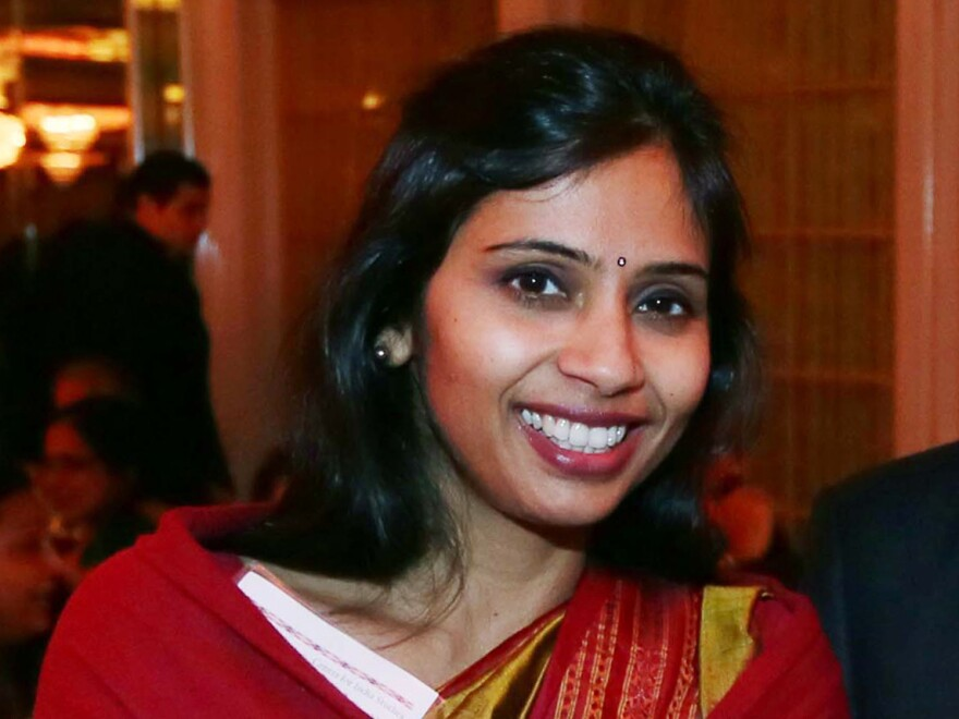 Devyani Khobragade at an India Studies Stony Brook University fundraiser in Long Island, N.Y., on Dec. 8, 2013.