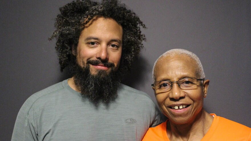 Max Knauer and his mother, Kittie Weston-Knauer, at a StoryCorps conversation recorded in April.