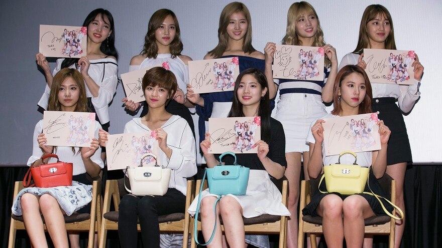 K-pop group Twice during an autograph session on June 28, 2016 in Seoul, South Korea.