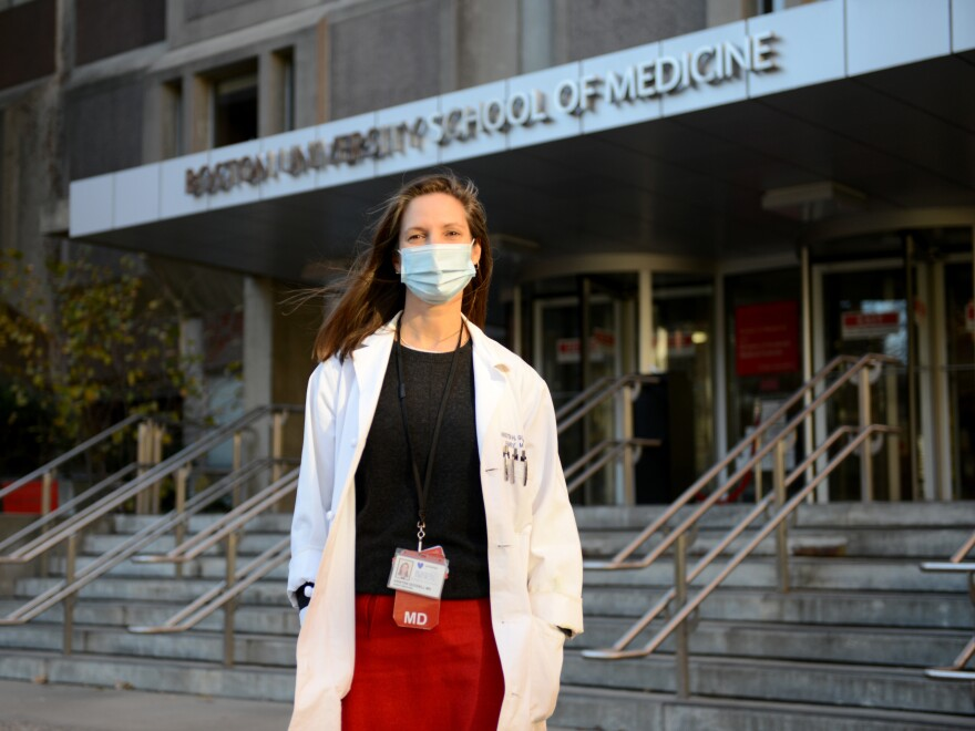 "Kristen Goodell, associate dean of admissions at the Boston University School of Medicine, which has seen a 27% increase in applications. ""People look at Anthony Fauci, look at the doctors in their community and say, 'You know, that is amazing. This is a way for me to make a difference.'"""