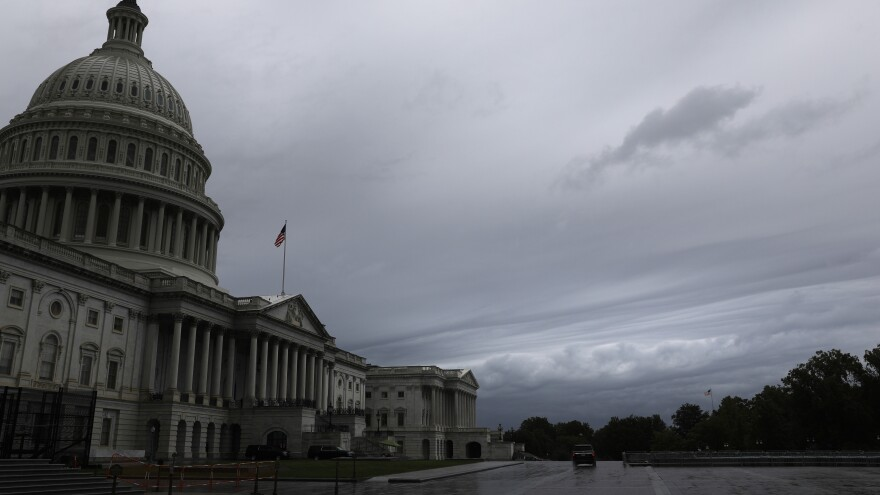 Storm clouds rolled over Capitol Hill earlier this week.