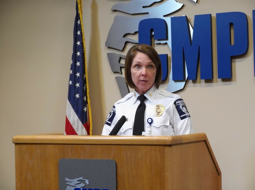 CMPD Deputy Chief Katrina Graue tells reporters about the sexual assault case involving a CMPD officer.