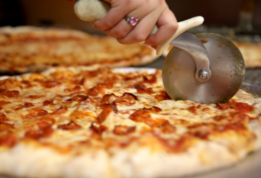 The pizza lobby tries to influence things like school lunches and the calorie labels that go on the pies.