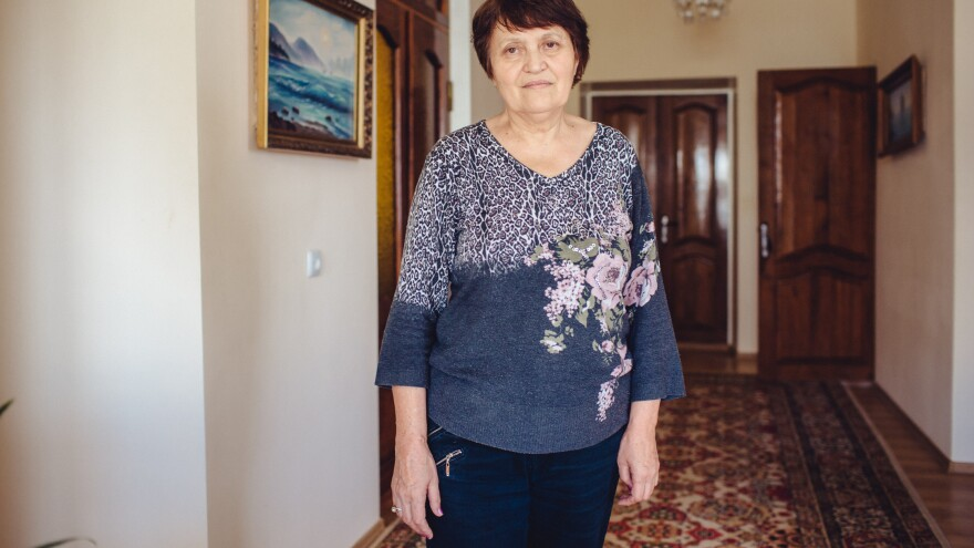 Safinar Dzhemilev is the wife of Mustafa Dzhemilev, the spiritual leader of the Crimean Tatars. She continues to live in Crimea, but he is living in exile in Ukraine.