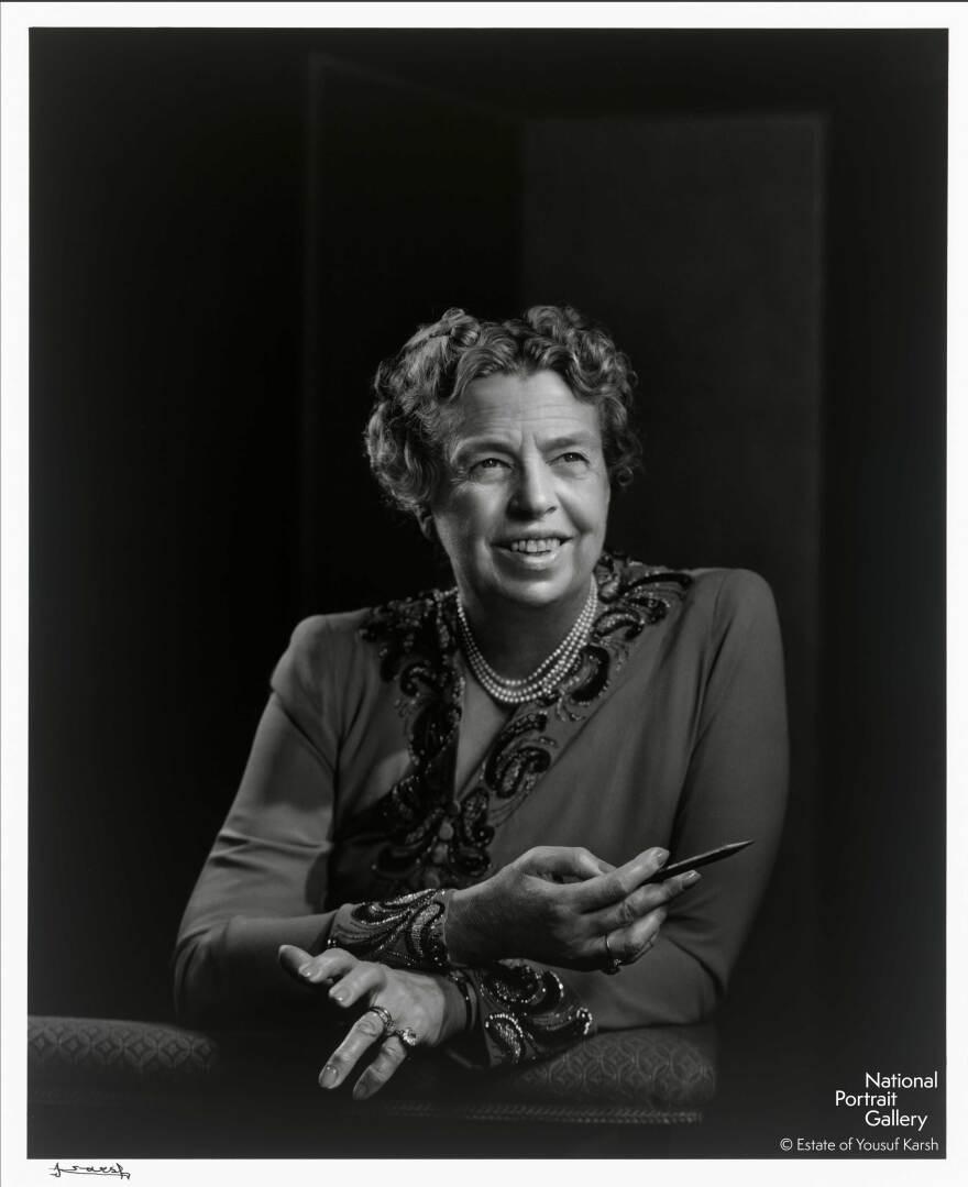 Yousuf Karsh's portrait of Eleanor Roosevelt.