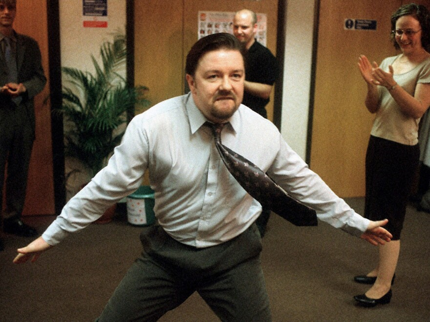 Ricky Gervais, who played the role of boss David Brent in the original British version of <em>The Office.</em>