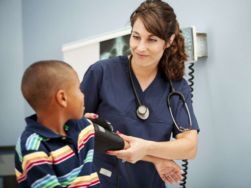 Doctors often overlook taking a child's blood pressure during routine visits.
