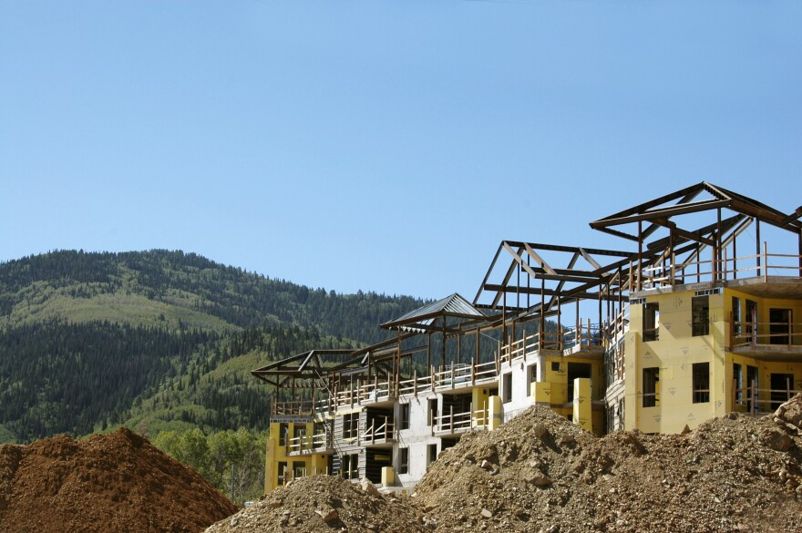 Residential construction in Utah mountains.
