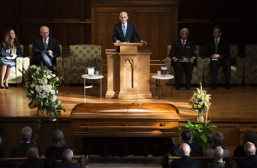 Maurice Graham, of Gray, Ritter & Graham, remembers his close friend, Judge Rick Teitelman on Dec. 1, 2016.
