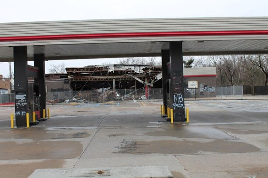 The QuikTrip on West Florissant Ave. was looted and burned on Aug. 10, the day after Michael Brown's death.