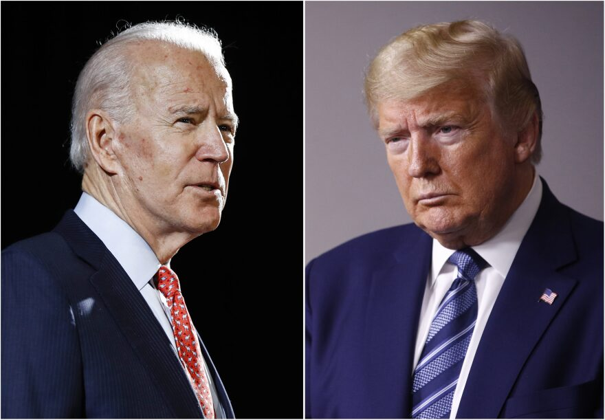 Former Vice President Joe Biden and President Donald Trump. (AP)