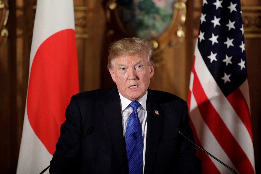 At a press conference in Japan on Monday, President Donald Trump blamed mental illness, not guns, for the Texas massacre.