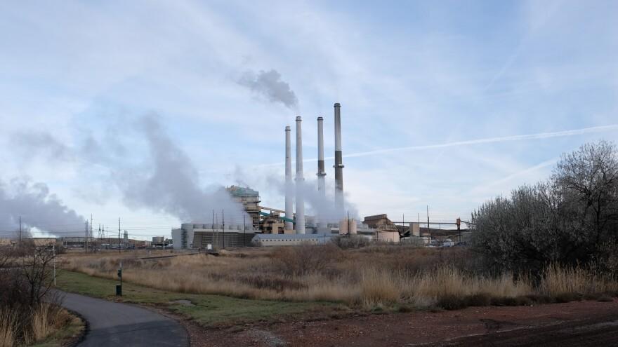 Coal stacks at Colstrip Power plant