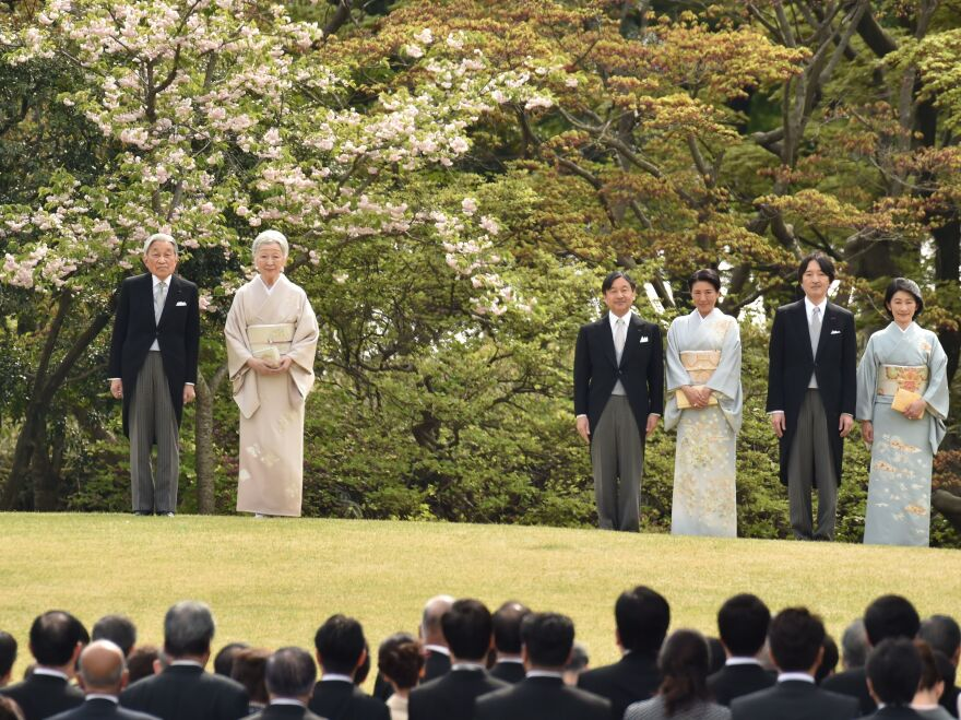 Japan's Cabinet has moved to allow Emperor Akihito to abdicate the throne — an event which hasn't happened in 200 years. Akihito (left) and Empress Michiko appeared with members of the royal family at the spring garden party at the Akasaka Palace imperial garden in Tokyo last month.